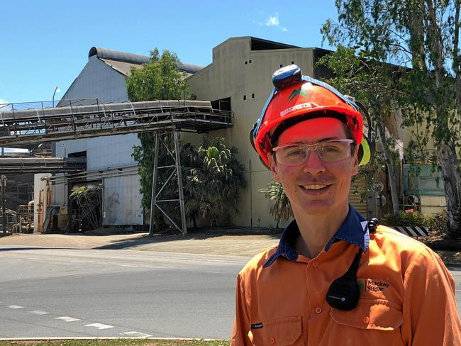Working hard: Jack Lennon was recently appointed production superintendent at Mackay Sugar's Marian Mill.