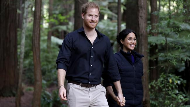 Harry and Meghan have been enjoying plenty of hikes in their new neighbourhood (pictured here in New Zealand in 2018). Picture: Kirsty Wigglesworth – Pool/Getty Images