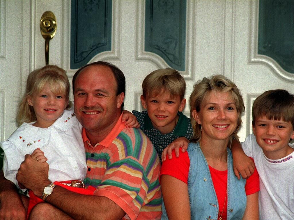 The Lewis family back in the day.