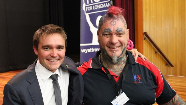 Tony pictured with Wyatt Roy in 2013 after winning an award for volunteering.