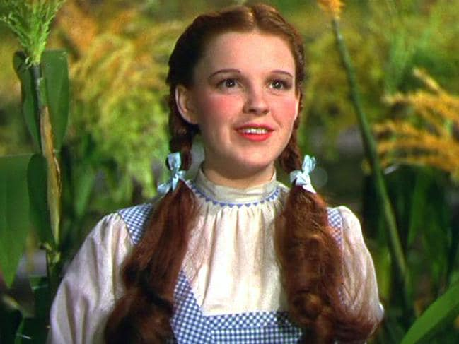 Judy Garland in The Wizard of Oz. Picture: The Kobal Collection/MGM