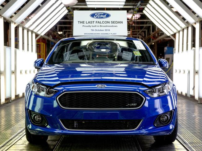 It's the end of an era for Ford in Australia. Picture: Ford Motor Co. via AP