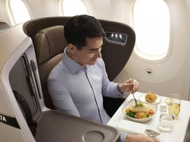 This sure beats the regular old tray table. Picture: Singapore Airlines
