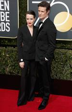 Claire Foy and Matt Smith attend The 75th Annual Golden Globe Awards at The Beverly Hilton Hotel on January 7, 2018 in Beverly Hills, California. Picture: Frederick M. Brown/Getty Images