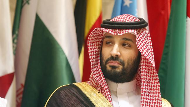 Saudi Crown Prince Mohammed bin Salman gifted the painting to his good friend Prince Mohammed bin Zayed of Abu Dhabi. Picture: AP Photo/Amr Nabil