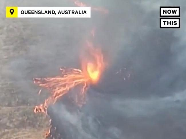A dramatic firenado captured in Queensland.