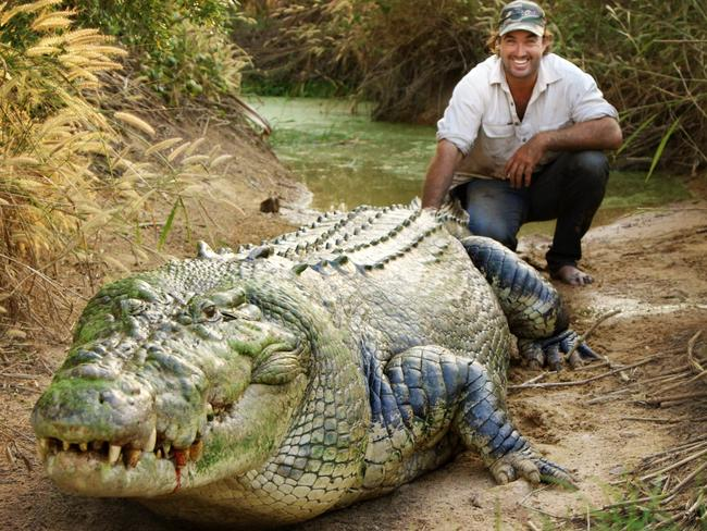 Outback Wrangler star Matt Wright says using your body weight helps you wrestle crocodiles. Picture: Foxtel