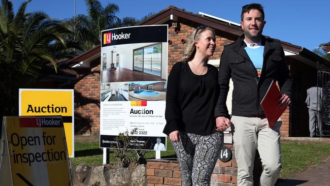 Young first home buyers Ben Carter and Chevonne Chivas are looking to buy in Werrington Downs, one of the fast selling properties on the list.