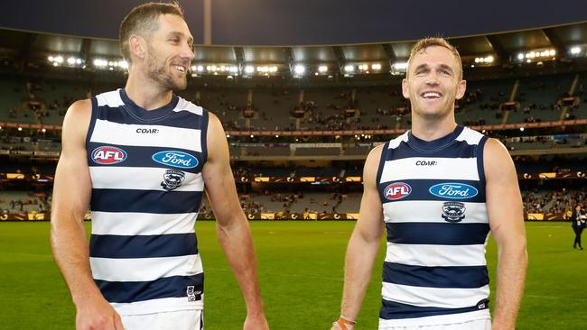 Harry Taylor and Joel Selwood have re-signed with Geelong.