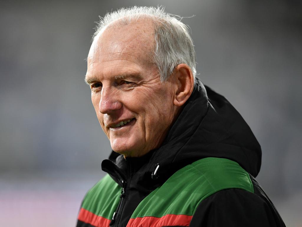 Wayne Bennett has coached the South Sydney Rabbitohs since 2019.