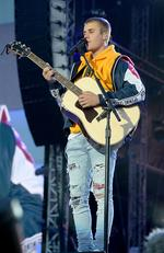 Justin Bieber performs on stage during the One Love Manchester Benefit Concert at Old Trafford on June 4, 2017 in Manchester, England. Picture: Kevin Mazur/Getty Images for One Love Manchester