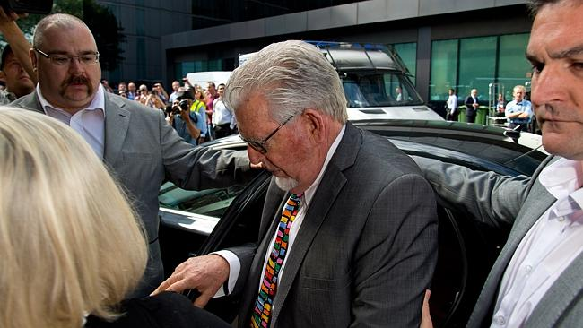 Arriving ... artist and television personality Rolf Harris arrives at Southwark Crown Court. Picture: Ben A. Pruchnie