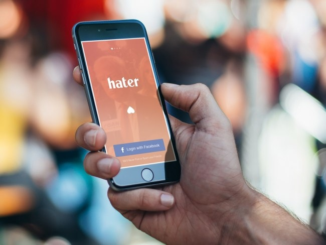 The Hater dating app offers over 2,000 topics for you to swipe on. Photo: Hater