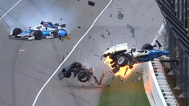 Scott Dixon walked away from this horrific crash at the Indy 500.