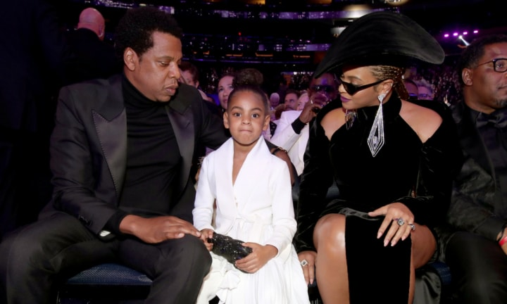Blue Ivy's reaction to Beyonce and Jay Z's on stage PDA is gold