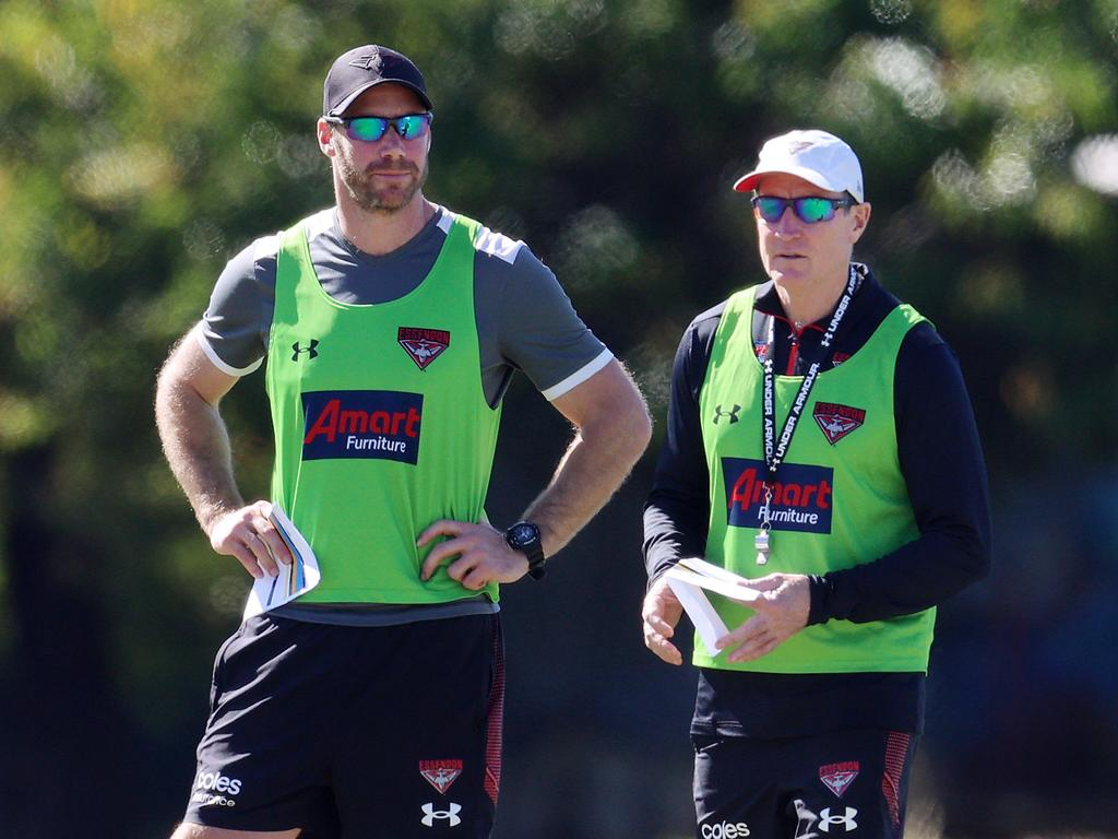 Western Bulldogs Essendon training