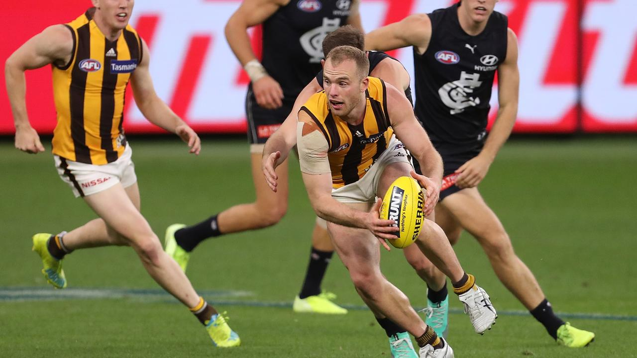 Tom Mitchell worked himself back to his best form after a broken leg ruined his 2019 season (Photo by Paul Kane/Getty Images).