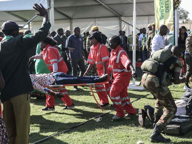 An attempt was made on the life of Zimbabwean president Emmerson Mnangagwa at a campaign rally held on Saturday, local media reported. Picture: AFP
