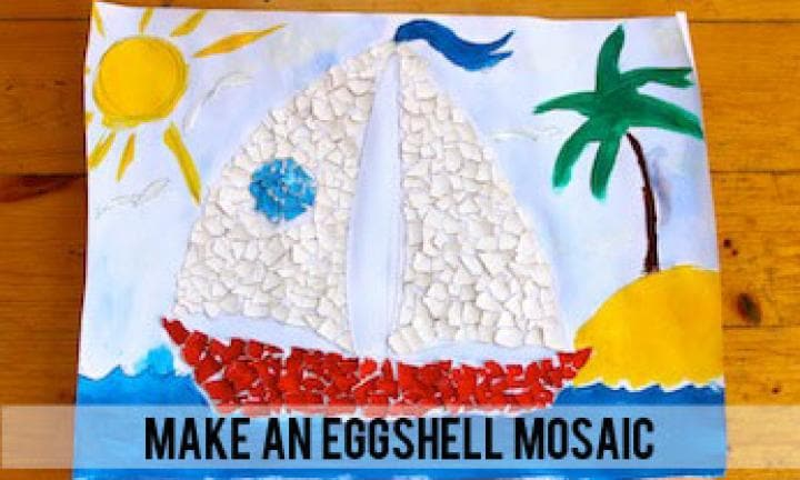 Make an eggshell mosaic