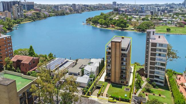 A view from the top of 1/32 Sandford Street, St Lucia, Qld. Picture: realestate.com.au