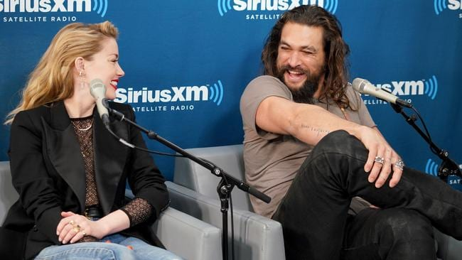 Amber Heard and Jason Momoa. Picture: Cindy Ord/Getty Images for SiriusXM