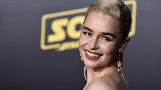 Clarke at the premiere for Solo: A Stars Wars Story, in which she plays Qi'ra. Picture: Frazer Harrison/Getty Images)