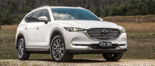 Mazda CX-8: Fits seven, as with petrol-powered CX-9, but in a slimmer body