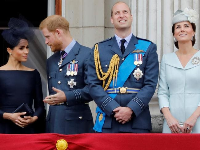 Sources say the royal family is ignoring Prince Harry and his wife, Meghan. Picture: AFP