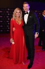 2019 AFL Brownlow medal awards red carpet arrivals. Nathan and Tania Buckley. Picture: Jason Edwards
