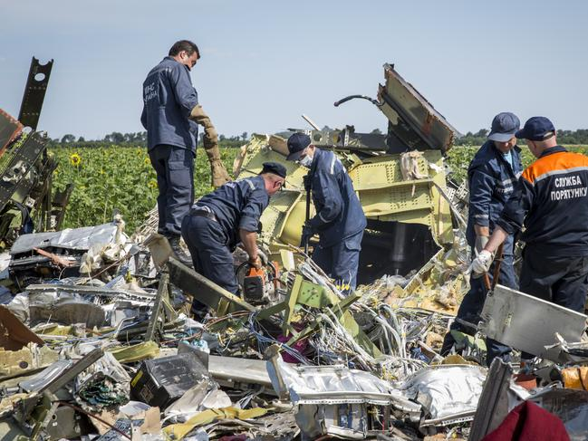 The plane was travelling from Amsterdam to Kuala Lumpur when it crashed, killing all on board including 38 Australians. Picture: Rob Stothard/Getty Images