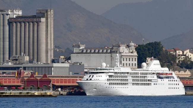 """The cruise """"Silver Cloud"""", where the USA men and women's basketball teams will be staying."""