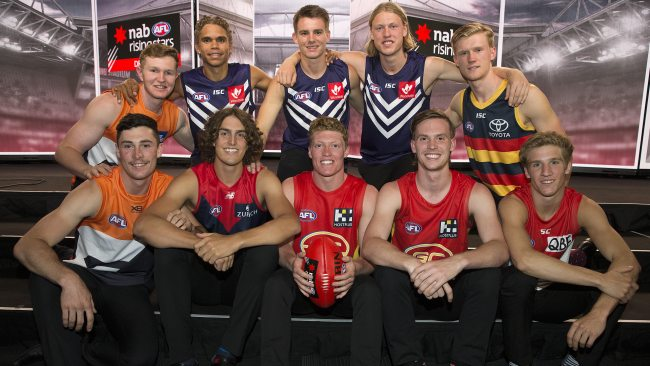 The 2019 draft top 10. Picture: Michael Klein