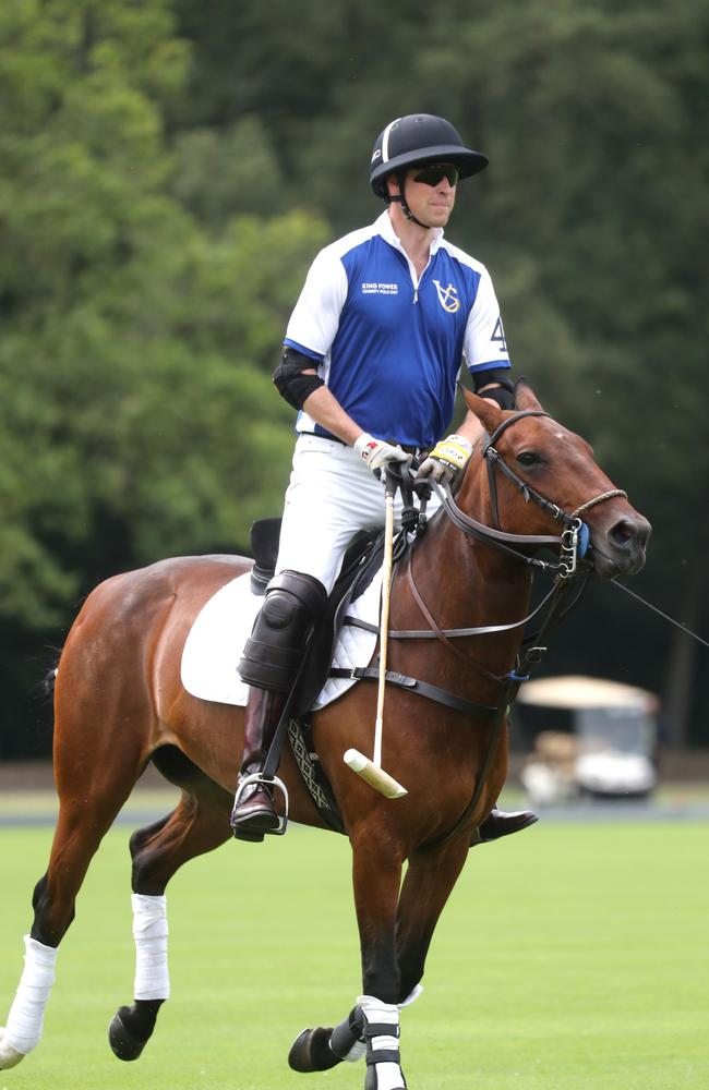 Prince William's family watched him play in the charity match. Picture: Chris Jackson/Getty Images for The King Power Royal Charity Polo.
