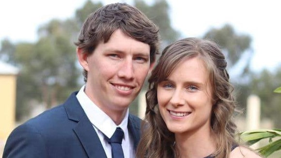 NSW RFS firefighter Samuel McPaul with his wife, Megan. Picture: Facebook