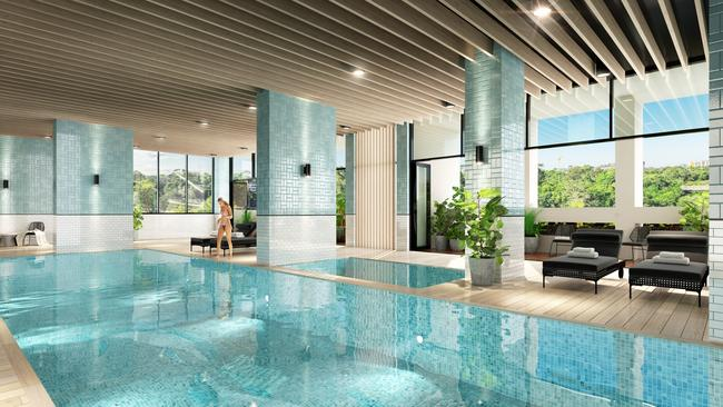 Residents will get to enjoy resort-style features including an indoor pool, spa and sauna.