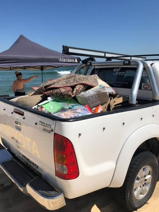 Rangers and locals carted piles of garbage off the beach this week. Picture: Facebook