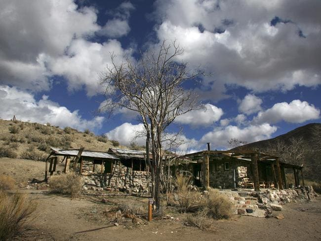The abandoned Barker Ranch house in the Panamint Mountains west of Death Valley National Park. Picture: AP