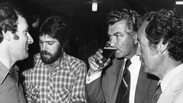 Mr Hawke was a legendary drinker in his union days.