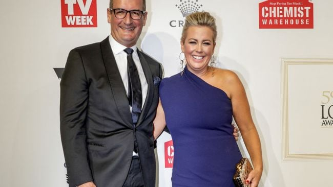 Sunrise's David Koch and Samantha Armytage. Image: Daniel Pockett/WireImage.