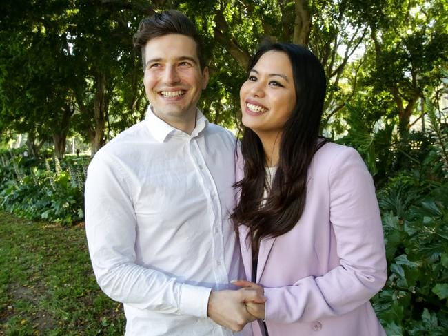 Katrine Adecer and Sergio Magliarachi are looking to buy their first home. Pic Liam Driver