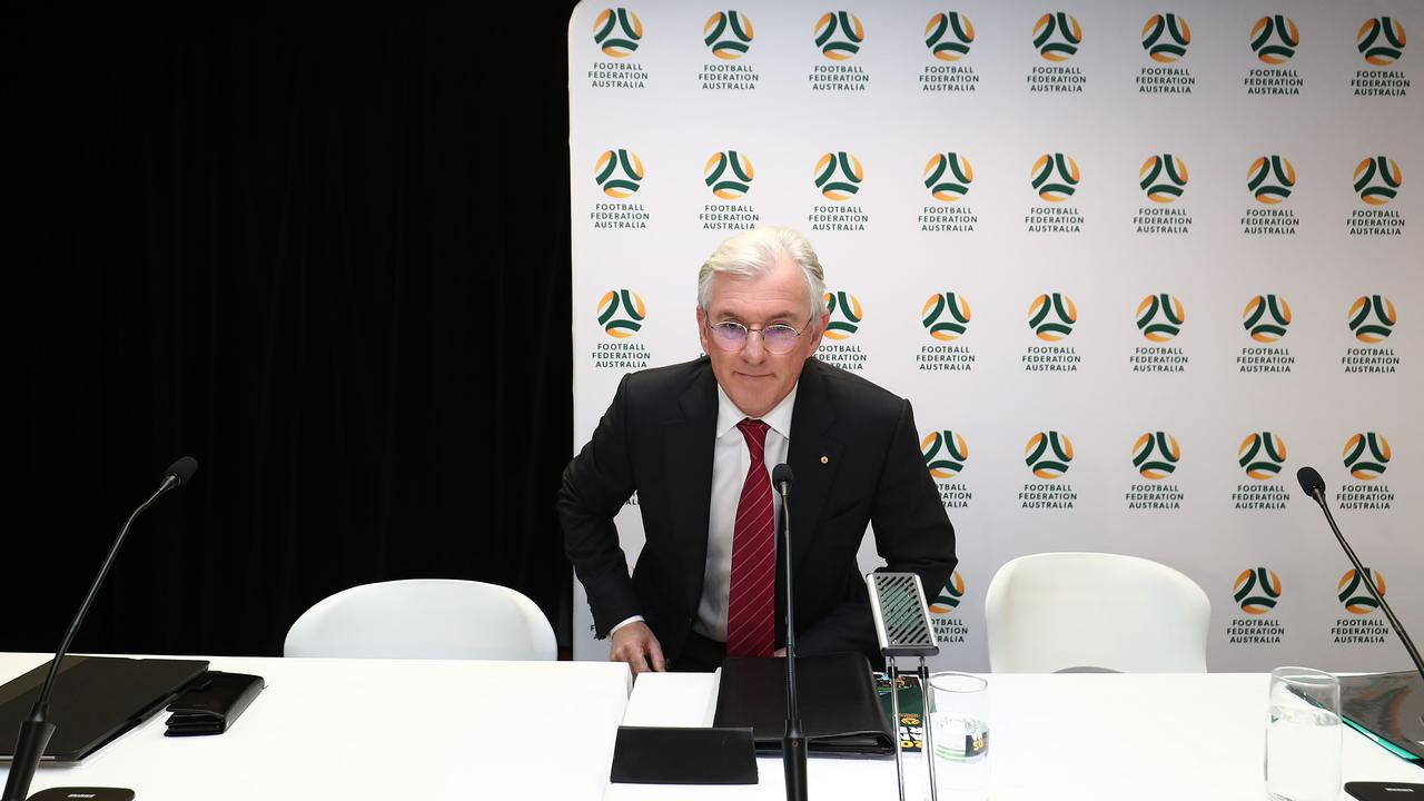 Steven Lowy is presiding over his final AGM as chairman of FFA.