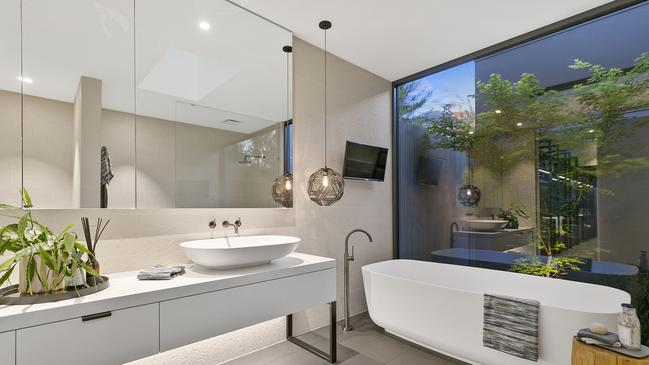Internal courtyards are a feature of the bathrooms.