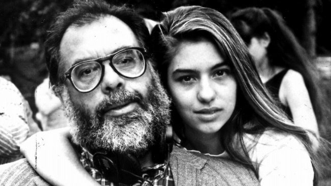 Sofia Coppola with her father, Francis Ford Coppola. Photo: File