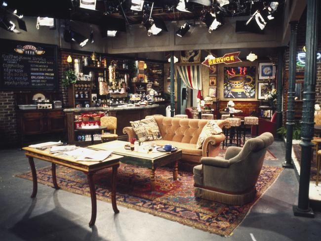 The set of Central Perk in Friends was an iconic staple of the show. Picture: Gary Null