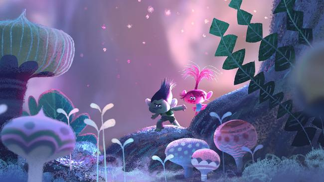 The colourful and magical world of Trolls will be open for all to explore. Picture: DreamWorks