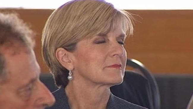 Nodding off ... Julie Bishop insists she supports the PM, but nodded off during one of his speeches in New Zealand on Friday.