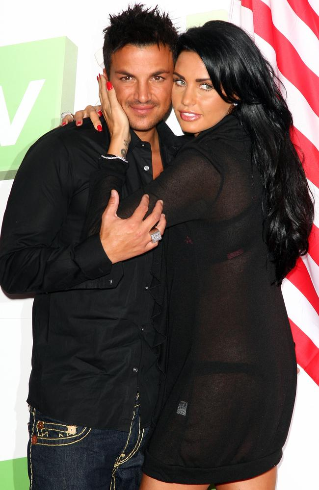 Katie Price and Peter Andre months before their split in 2009. Photo: Getty