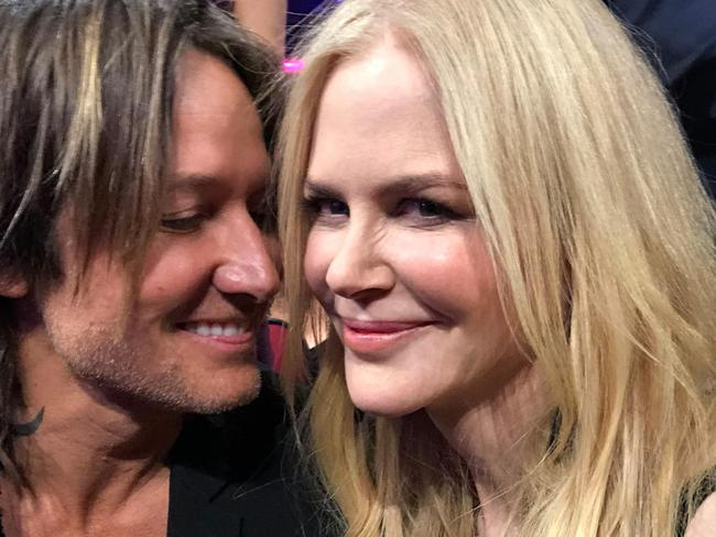 Nicole Kidman and Keith Urban at the VMA awards. Picture: facebook