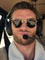 "High flyer: ""LA work day. Traffic looked bad so decided to fly."" Picture: Scott Eastwood / Instagram"