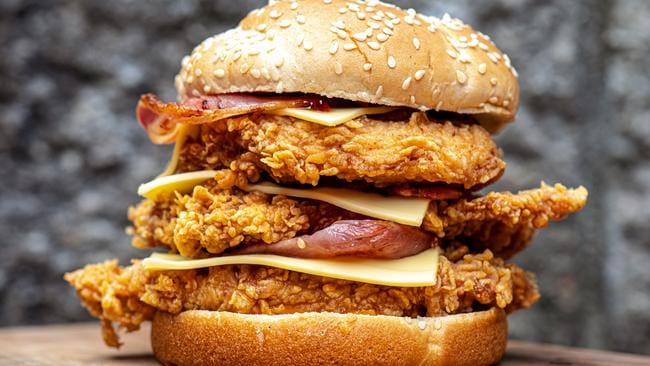 Meet the all new Triple Stacker from KFC. Picture: The Wolf of Eat Street.